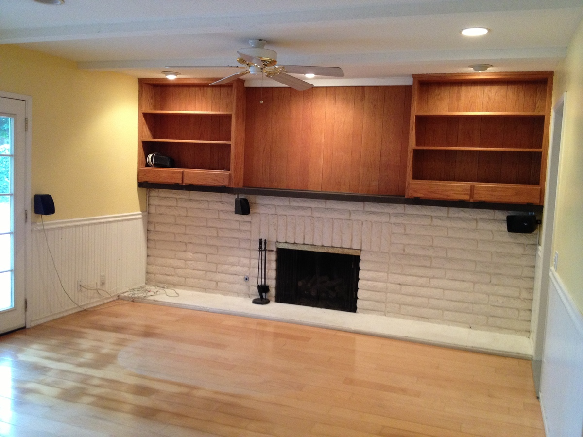 Family room, existing condition