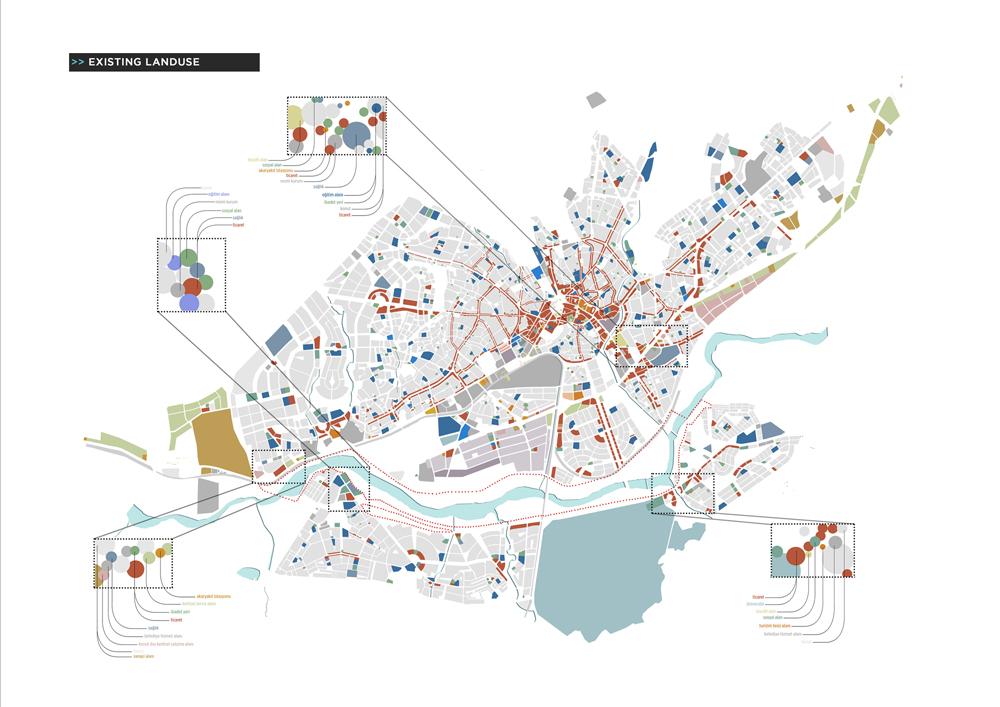 007 – SCHEMES | EXISTING LANDUSE - Image Courtesy of ONZ Architects & MDesign