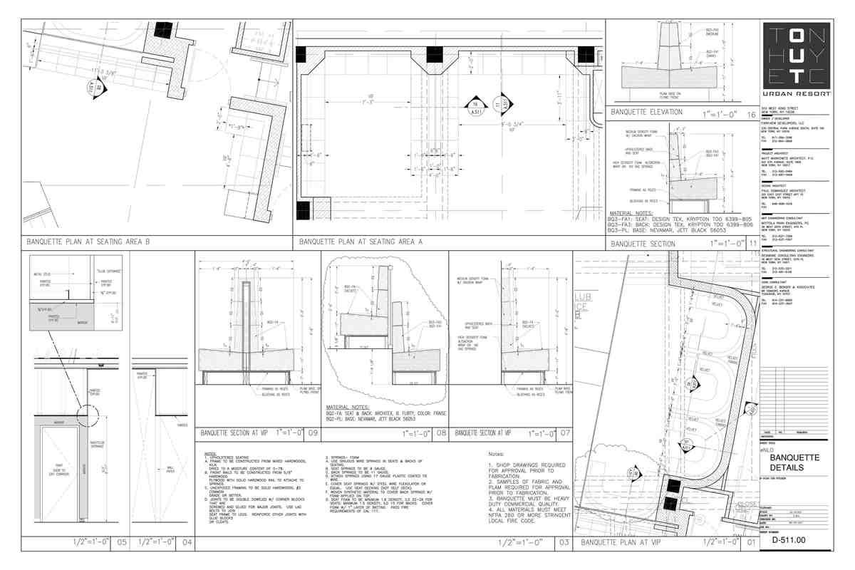 Seating Area Details- My sample design of custom details