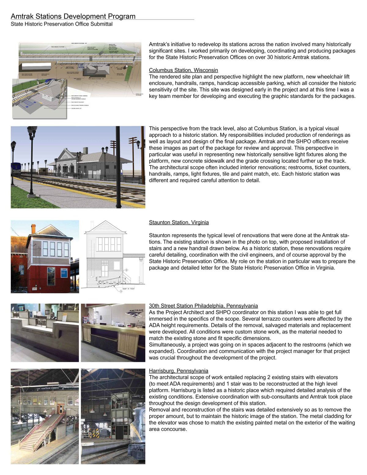 Amtrak Stations Development Program   Selected Stations