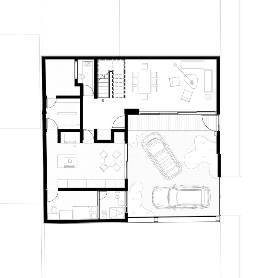 Ground level plan, entry. PAUL CREMOUX studio