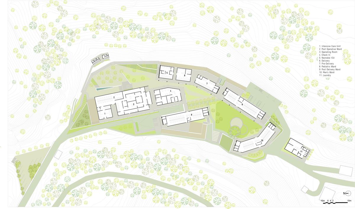 Upper level site plan.
