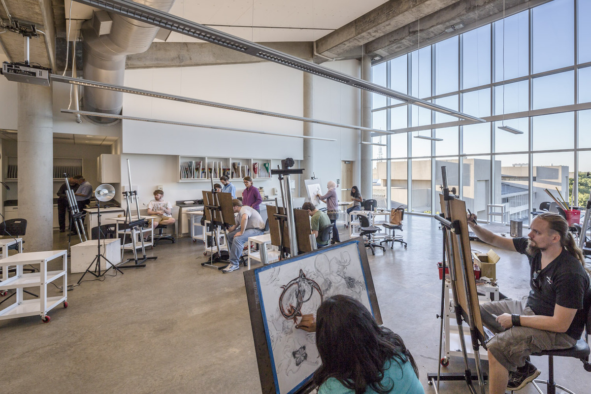 Visual arts studio (photo: Tim Griffith)