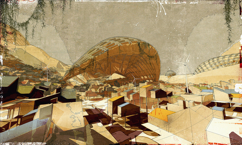 The Outer-City Settlement, digital media on paper, [2008] 60