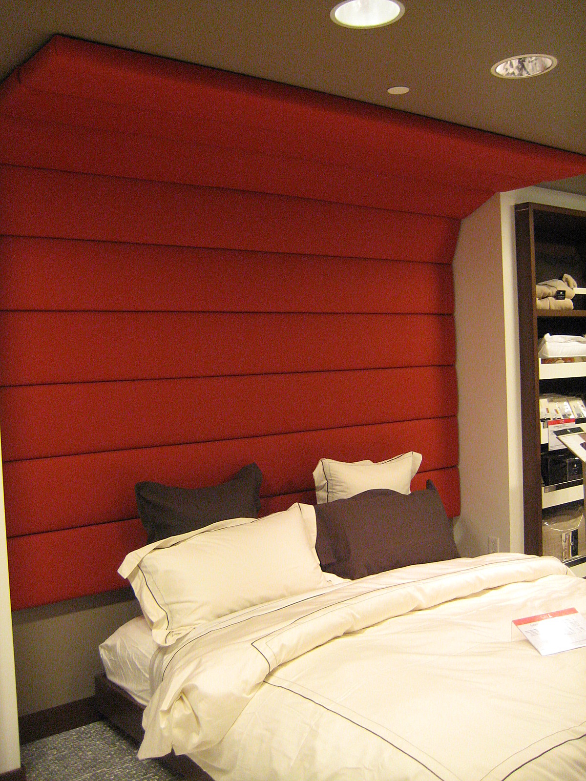 Feature custom designed bed wall