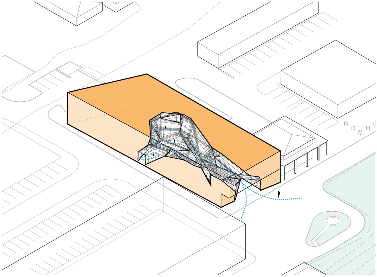 Diagram: interior void + mass. Illustration courtesy of Trahan Architects