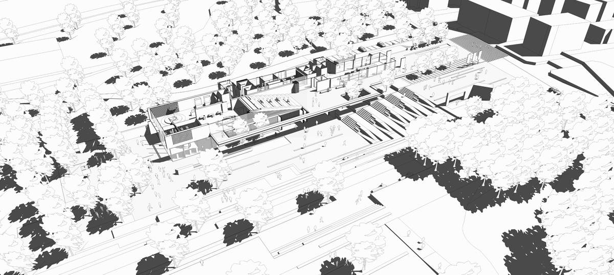 009 – AXONOMETRIC VIEW - Image Courtesy of ONZ Architects