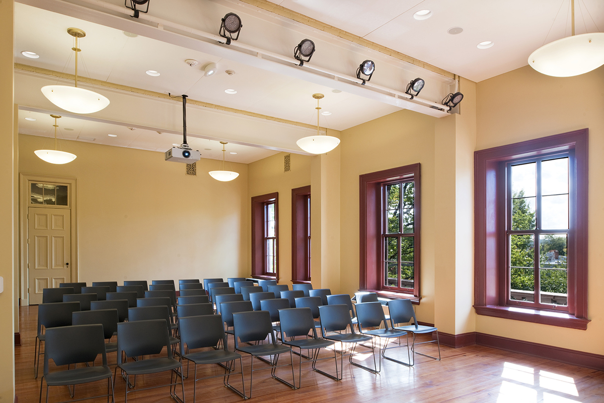 Former patient rooms re-configured into welcoming public meeting spaces
