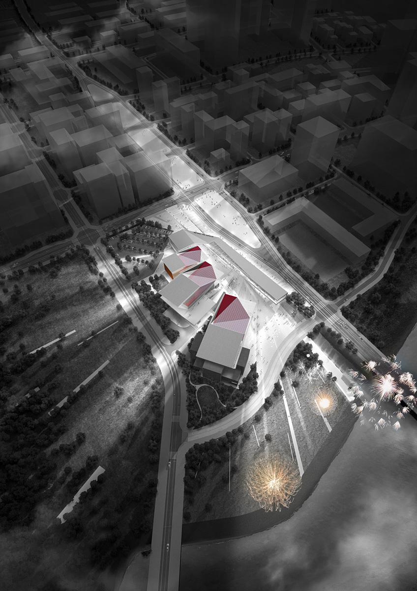 Aerial view (Image: H Architecture & Haeahn Architecture)