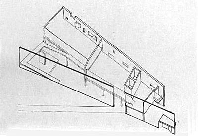 Axonometric, Ink on Mylar