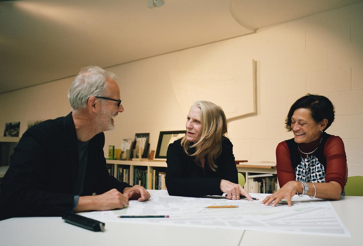 Neil Porter, Kathryn Gustafson and Mary Bowman