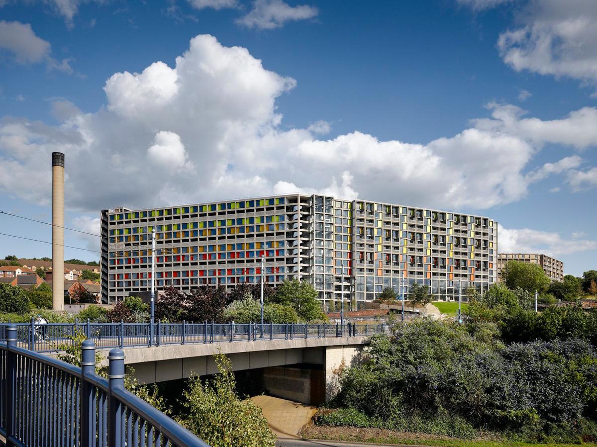 Park Hill Phase 1, Sheffield by Hawkins\Brown with Studio Egret West; Photo: Daniel Hopkinson