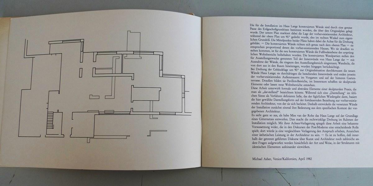 Rotated Plan at Mies van de Rohe's Haus Lange, 1982