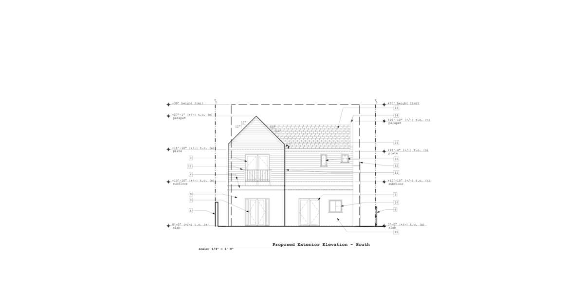 Proposed South Exterior Elevation
