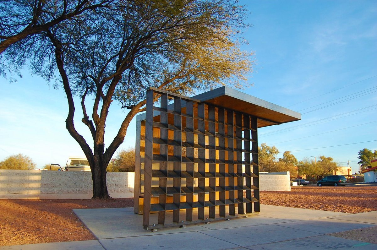 West Facing Bus Shelter Location: Ist Ave & Rodger Rd, Tucson, AZ