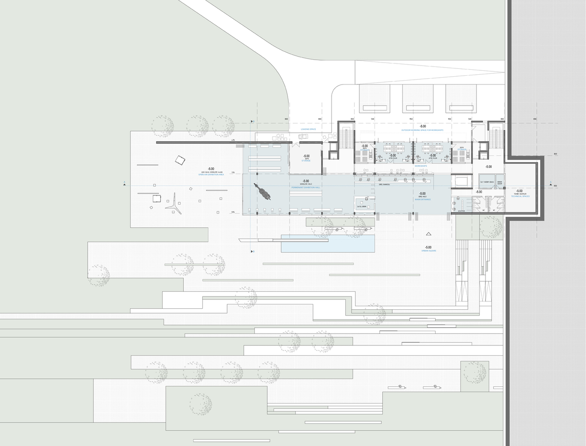 007 – LOWER GROUND FLOOR PLAN   1/200 - Image Courtesy of ONZ Architects