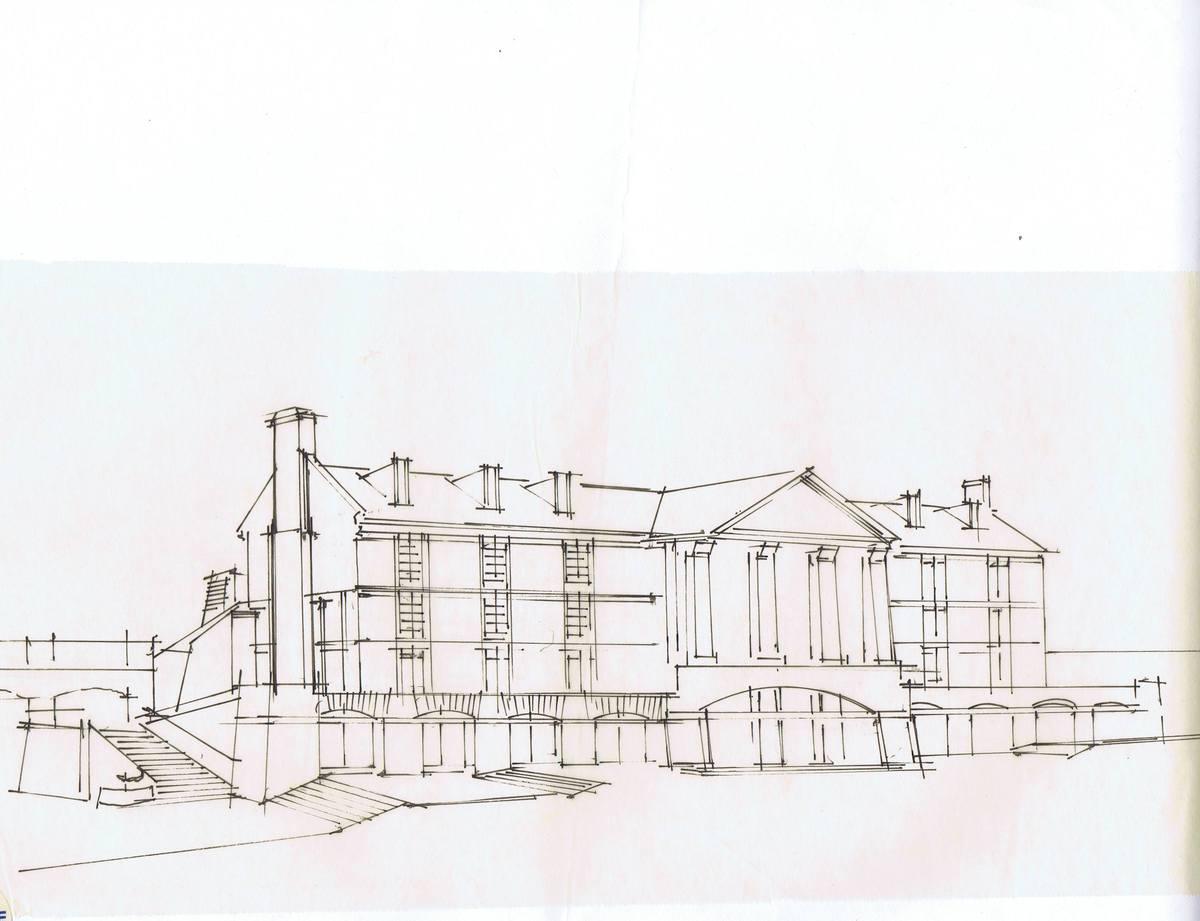 Sketch - Street Side Elevation