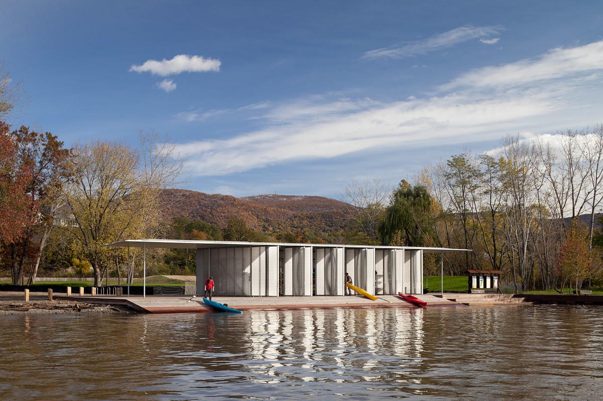 Boat Pavilion for Long Dock Park; Beacon, NY (Photo: James Ewing Photography)