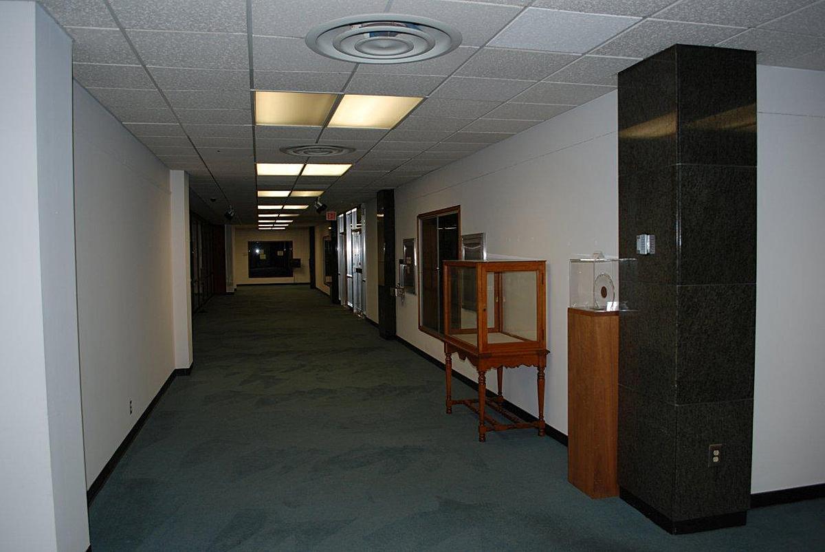 4th floor main circulation before renovation