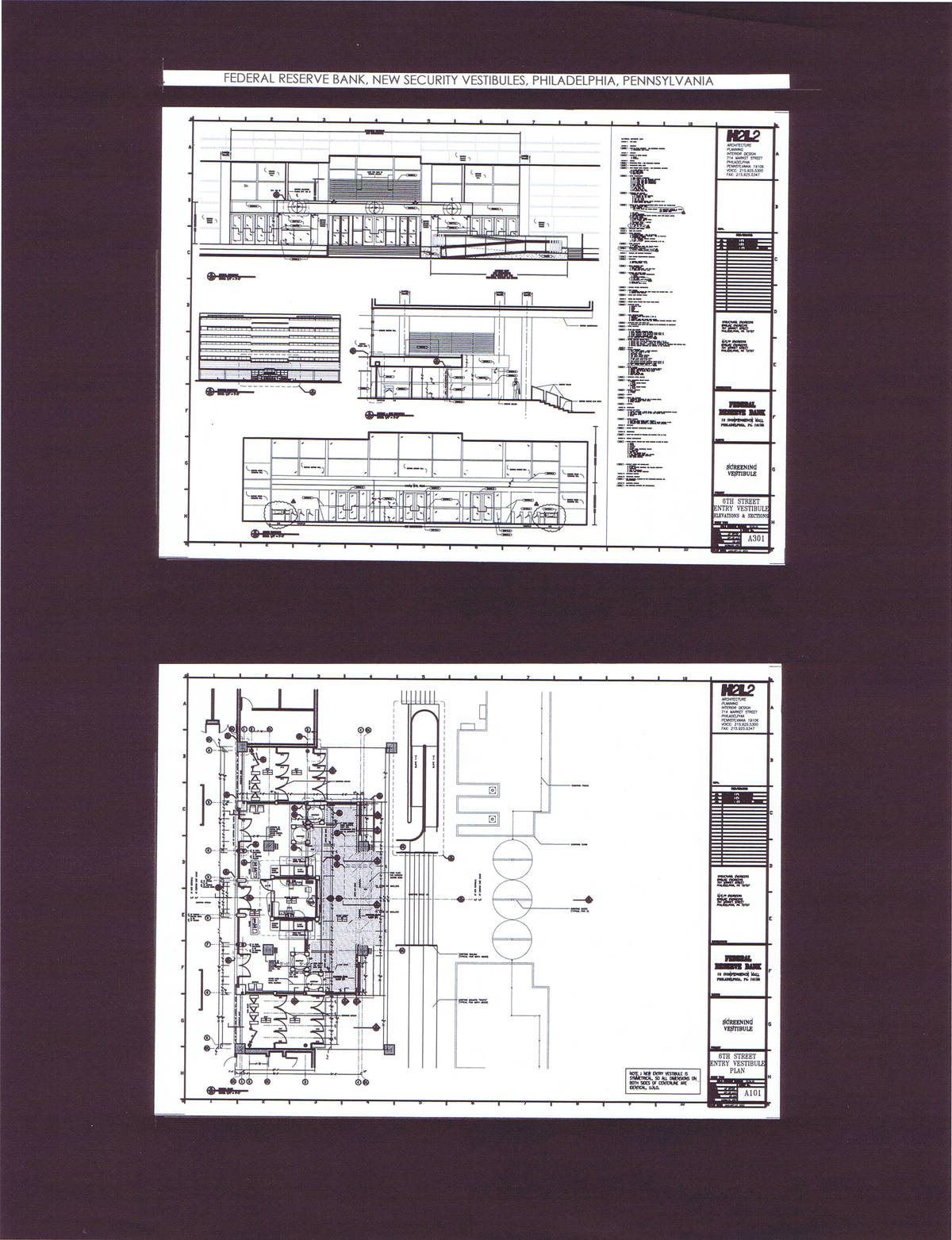6th Street Entry Vestibule, Elevation, Section, Floor Plan