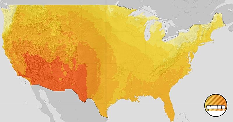 U.S. solar energy potential