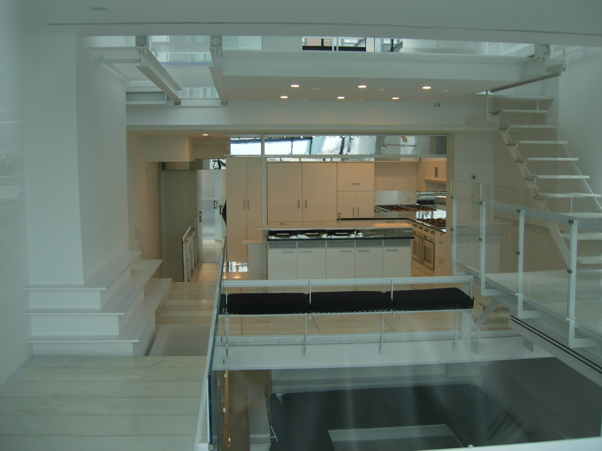 Mirrored stainless application/ conversion varnish cabinetry