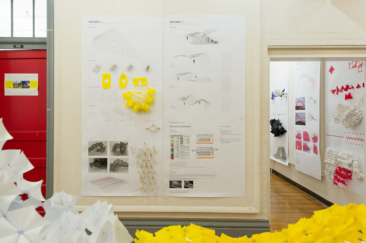 Midterm exhibition of models and drawings (Photo: Magnus Lindqvist)