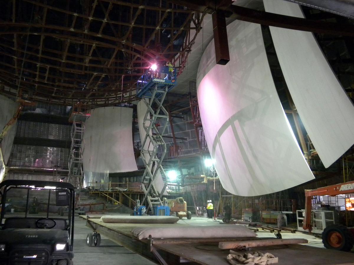 Bing Concert Hall - Composite Acoustical Panels (Image: Kreysler Associates)