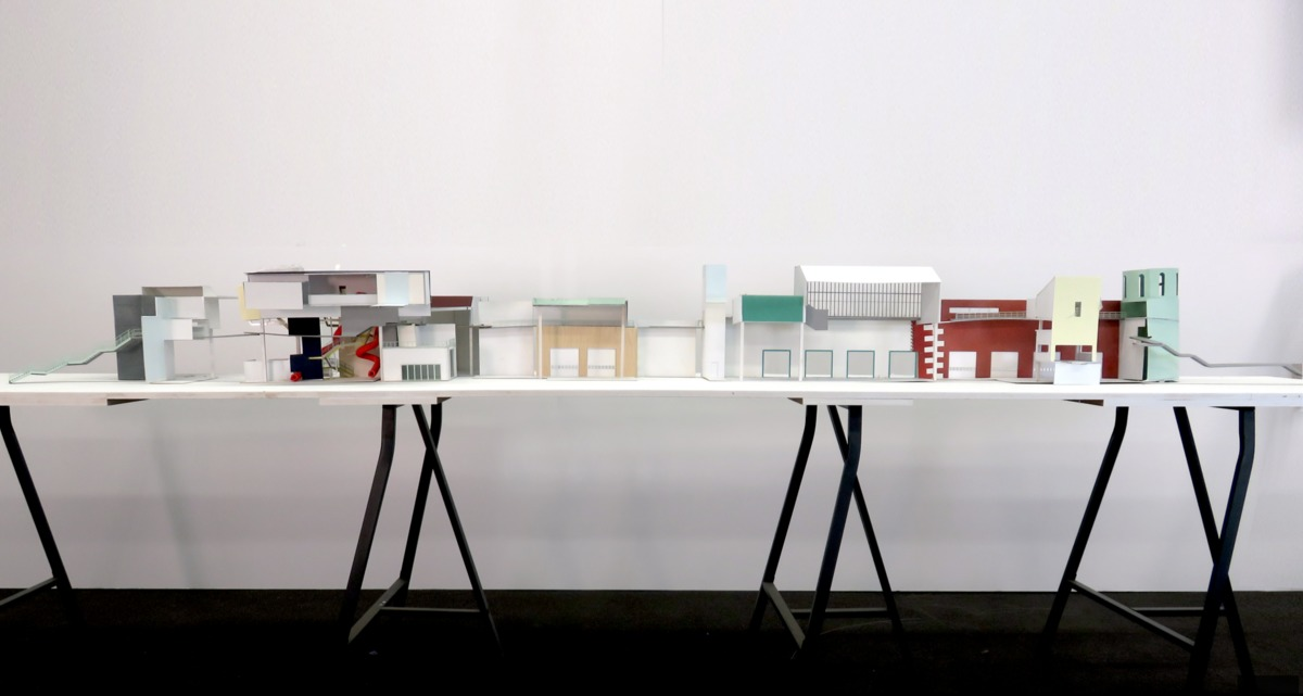 Work by 2nd-year students Jena Meeks and Joshua Nelson for Fire Station studio taught by Gabriel Fries-Briggs