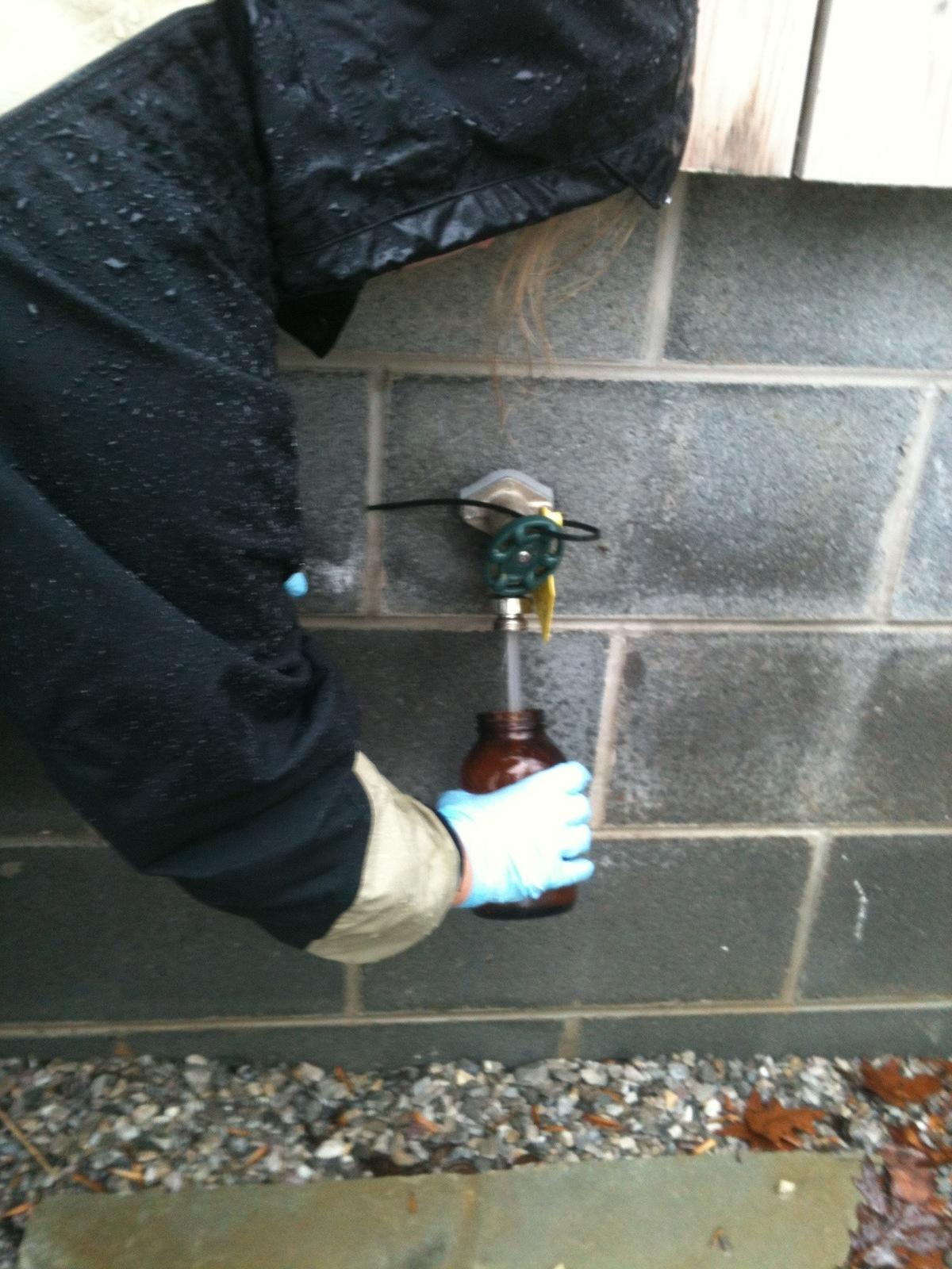Sampling from the hose bib