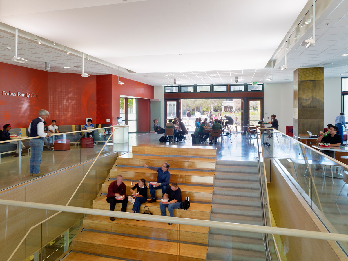 Main lobby with open stair