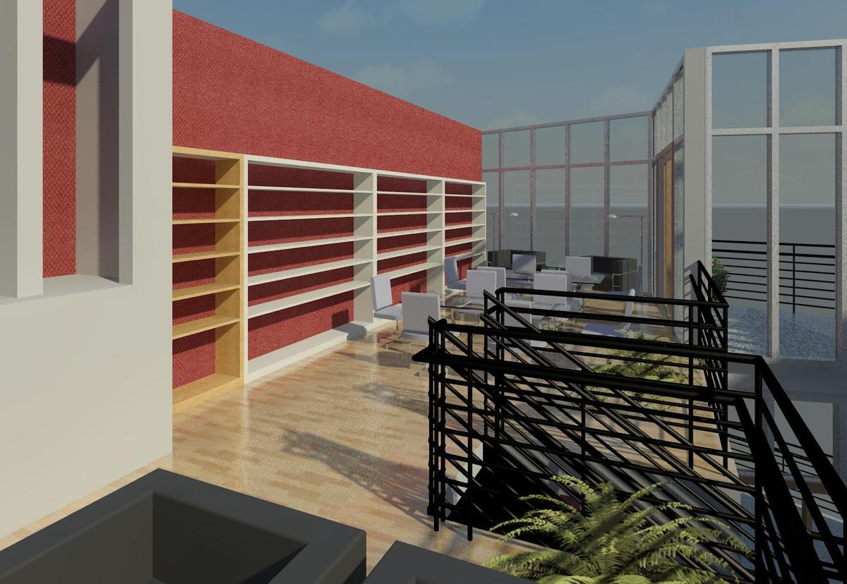 Epic Condominium (MIami, Fl.): Library & gallery rendering