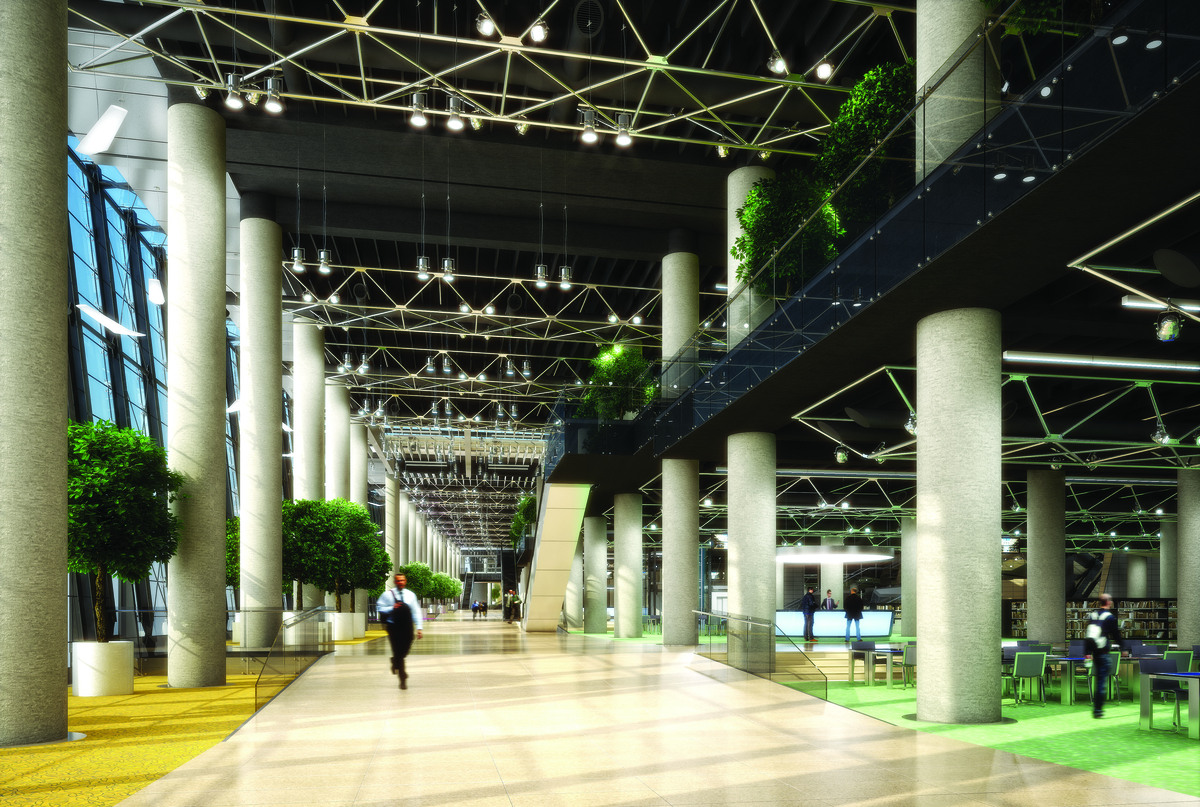 main concourse, 3D rendering