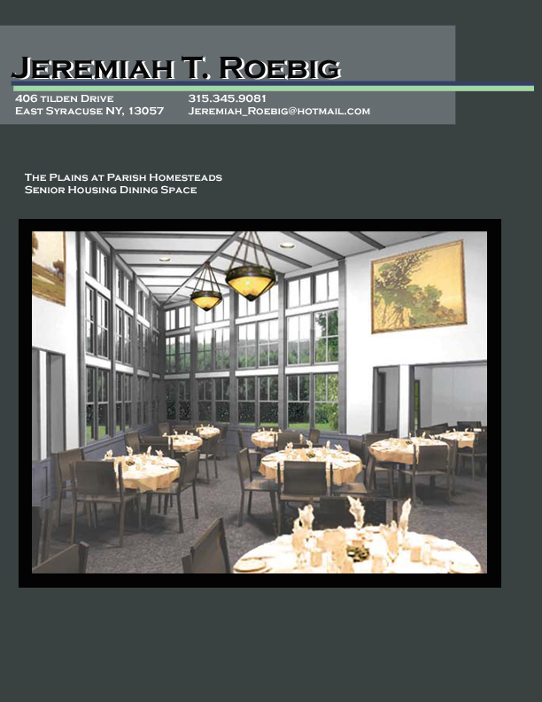 Dining Schematic Design