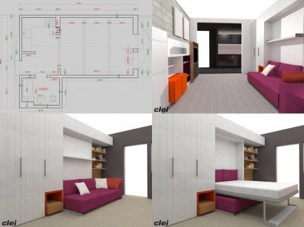 Drawing of Living Area
