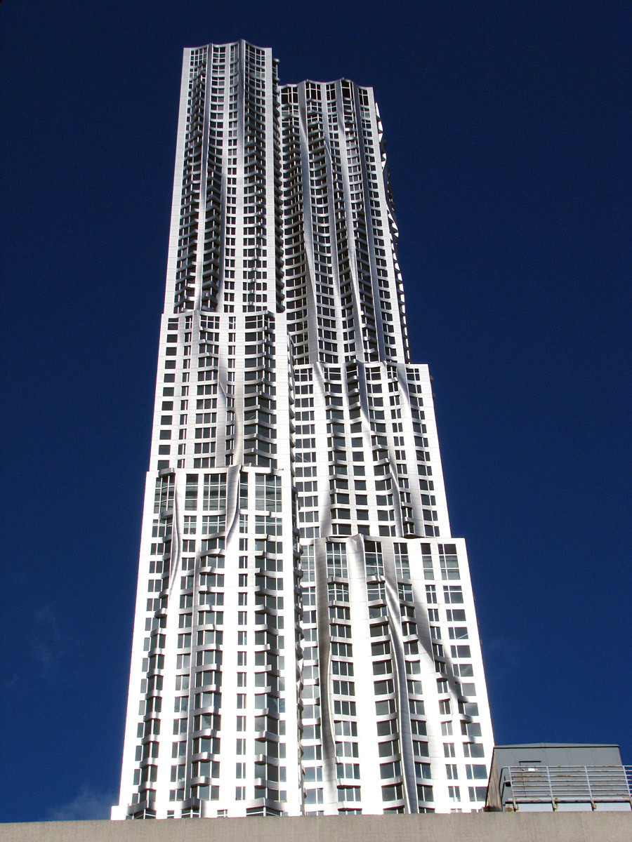 1st Place: 8 Spruce Street, New York City, 265.18 m / 870 ft, 76 floors (Copyright: Courtesy of Gehry Partners)