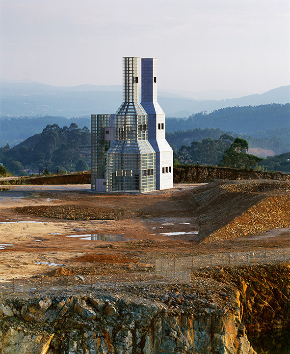 John Hejduk Memorial Towers by John Hejduk Architect, Santiago de Compostella, Spain 2003. Image © Alan Karchmer.