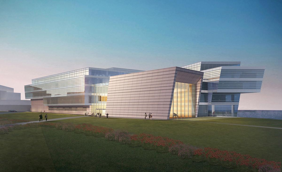 West view of Northwestern University's Bienen School of Music by Goettsch Partners (Image: Goettsch Partners)
