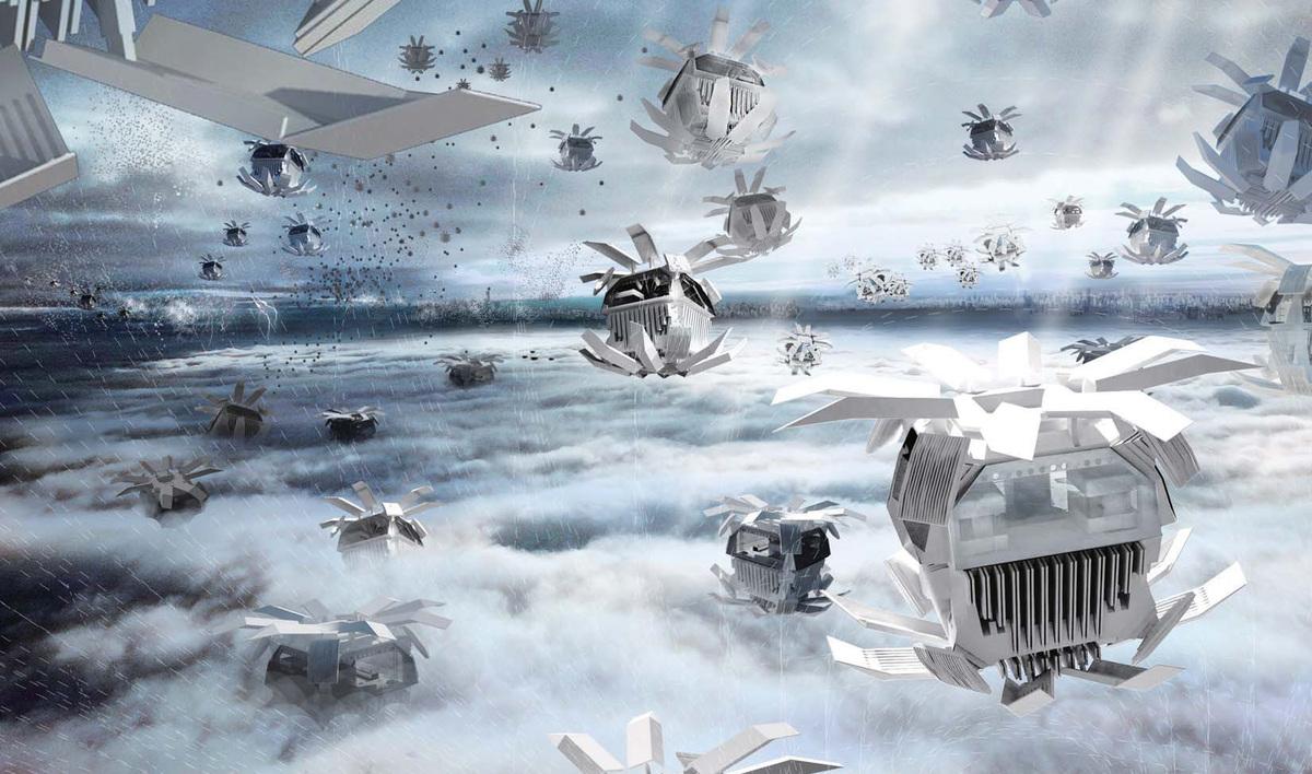 Special Mention: AIR DEPLOYABLE: Up in the Air by Chu Ziyuan, Li Hanwei, Pei Zhao, Wang Moze, Yang Xiaodan, Zhang Wenjie, & Zhang Ranran (China)
