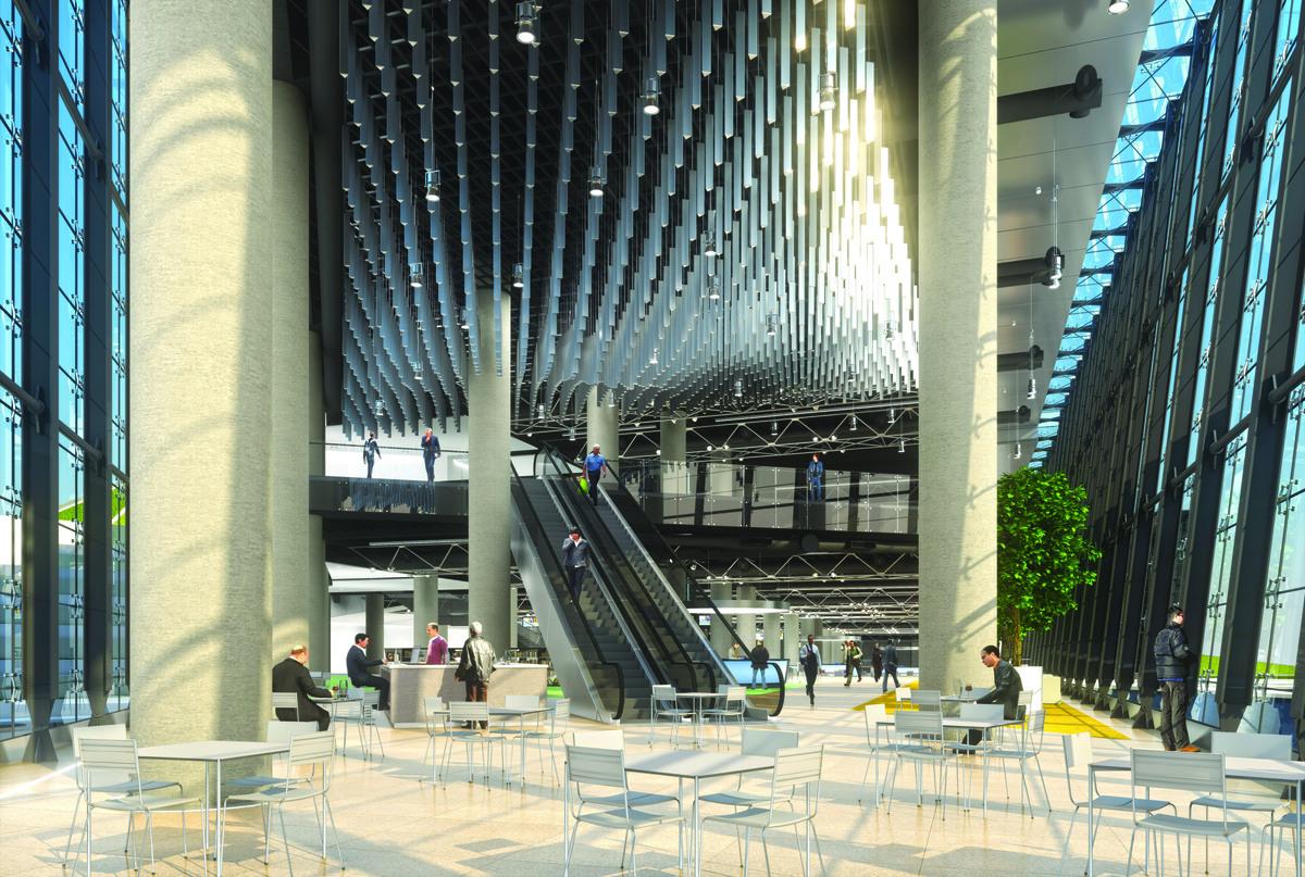 interior view, 3D rendering