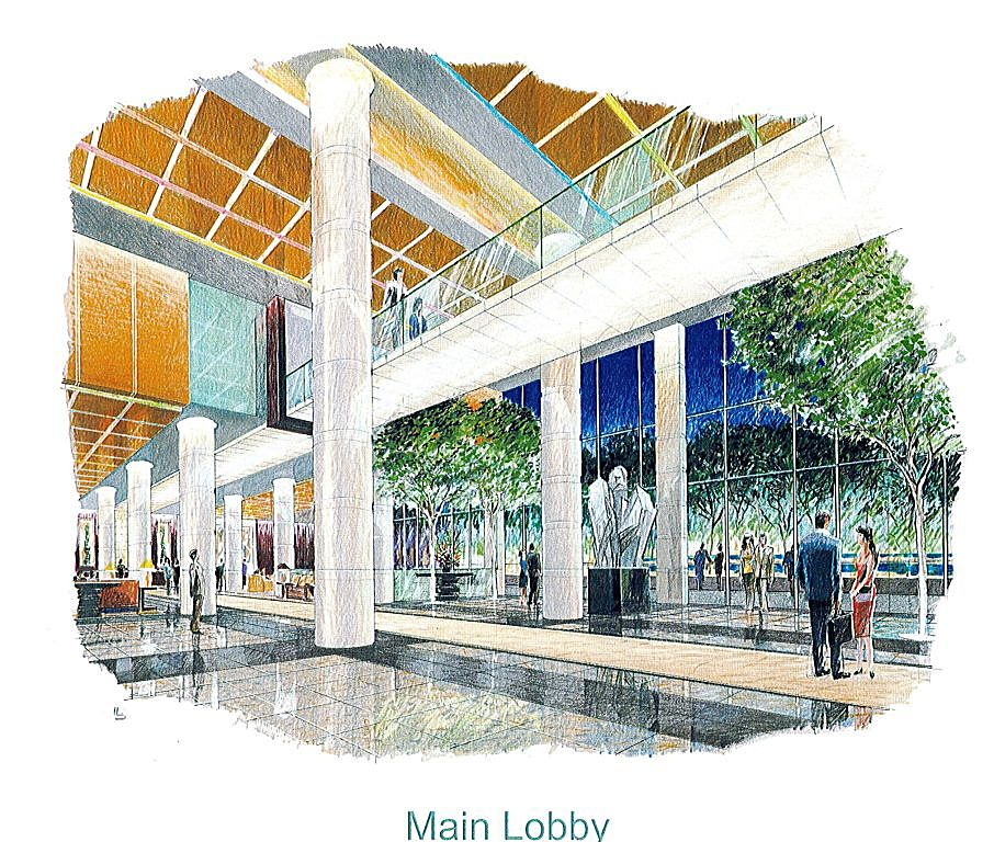Main Entrance Lobby Interior Plan