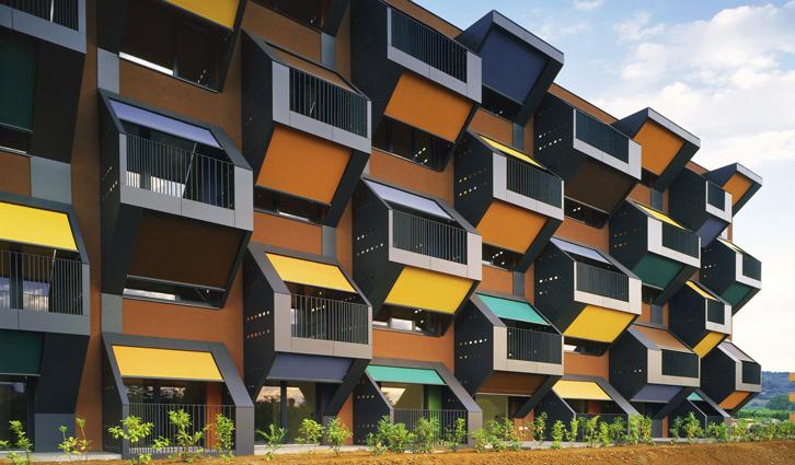 Honeycomb apartments by OFIS. Image: OFIS.