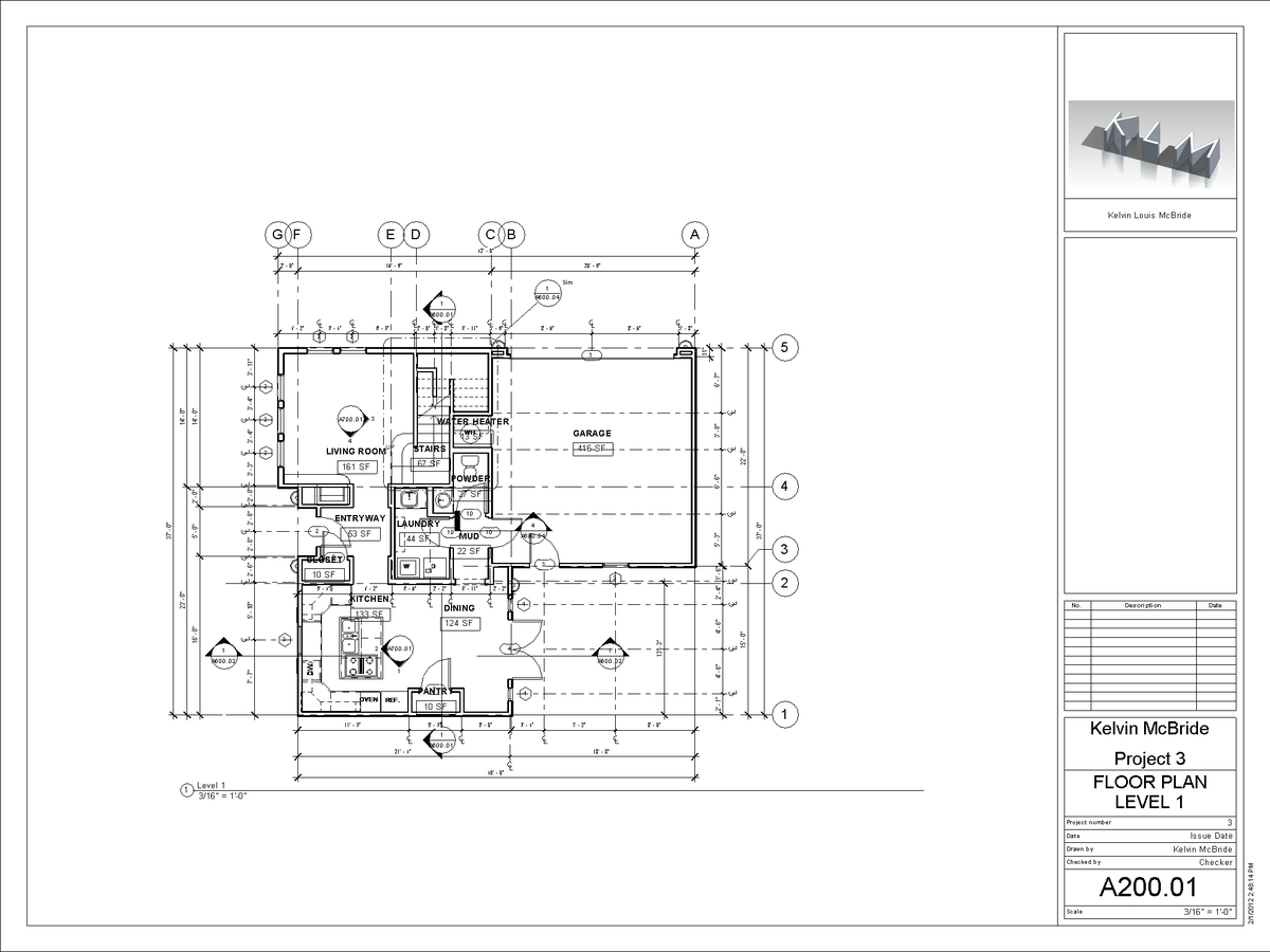 A200-01 - Floor Plan Level 1
