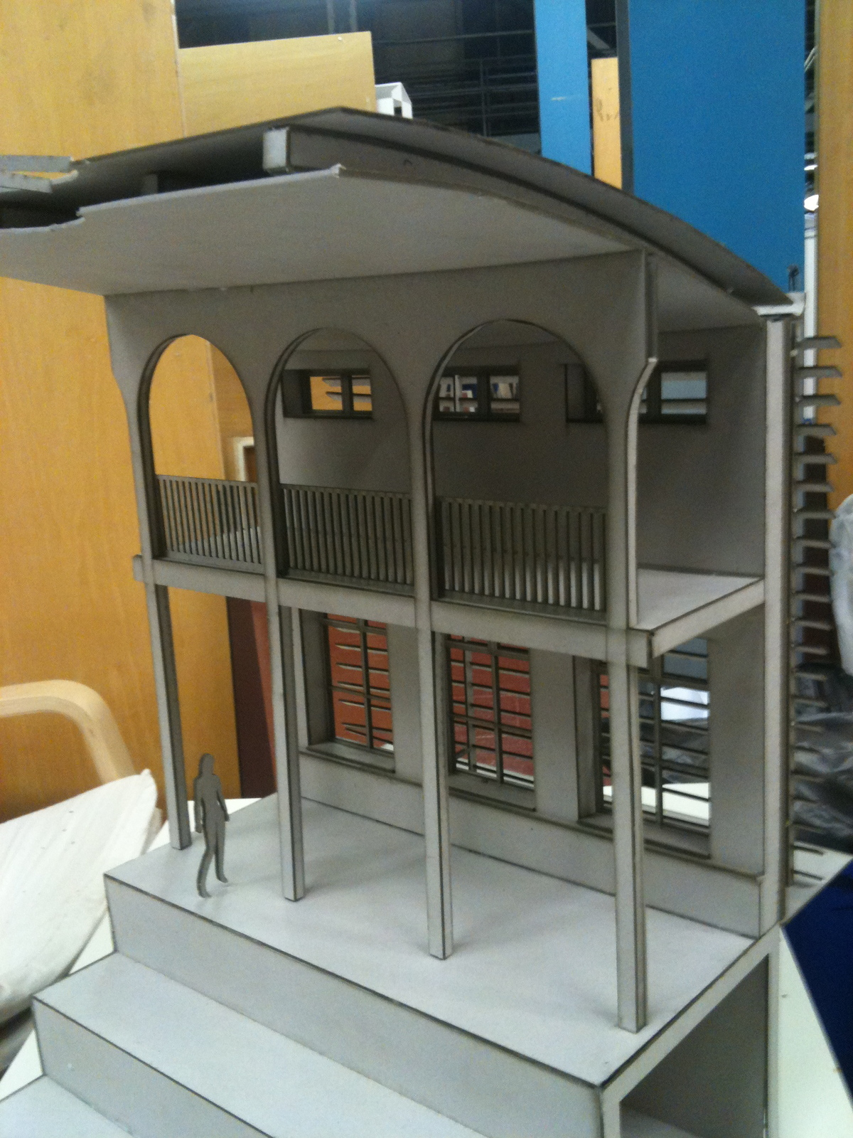 Model of a hammam and spa