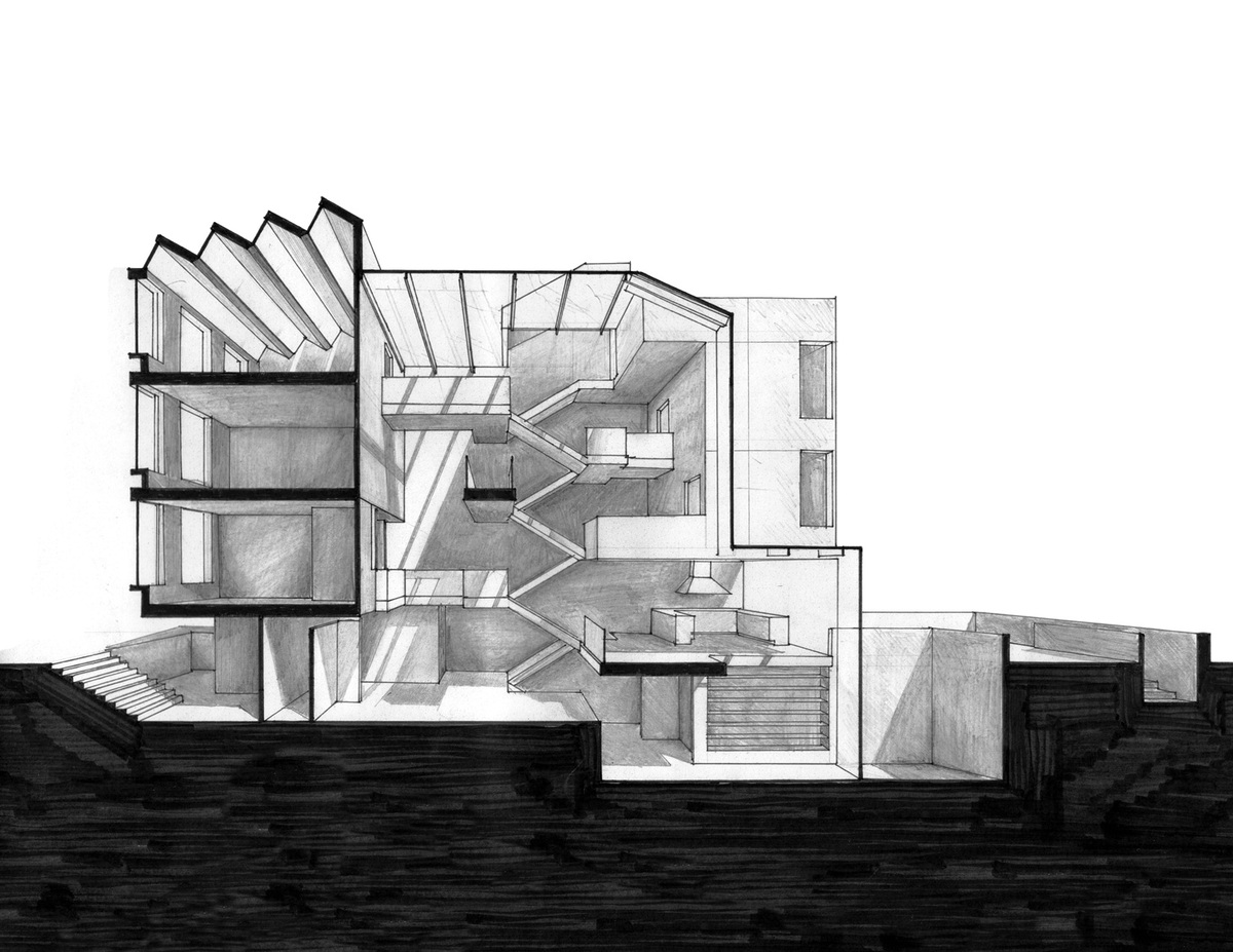 Perspectival Section Drawing