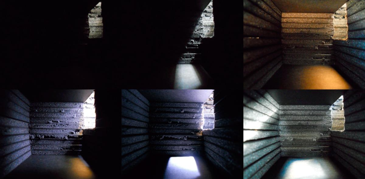 Light studies taken from a physical model