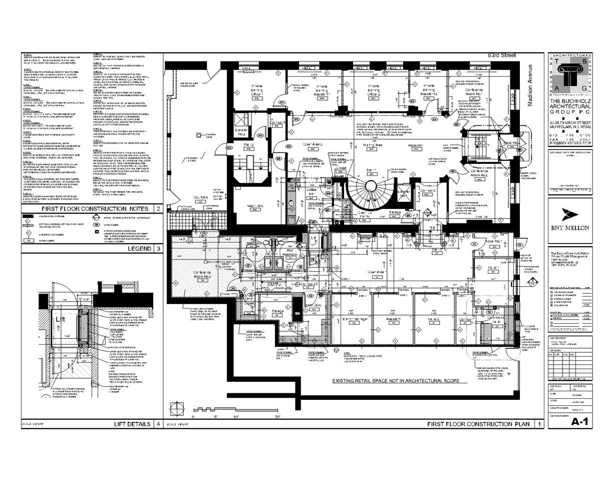 First floor construction plan