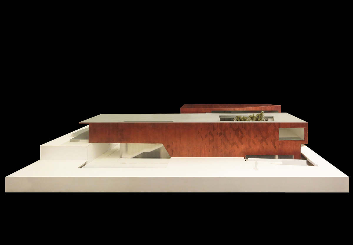 Presentation model of the Shenzhen Bay Clubhouse. Image by Studio Link-Arc, LLC