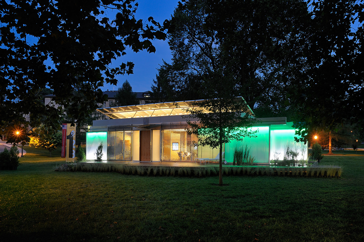 2010 Award-winning LumenHaus; LumenHaus won first place in the first European Union Solar Decathlon in Madrid Spain and now continues to be a research center on campus.