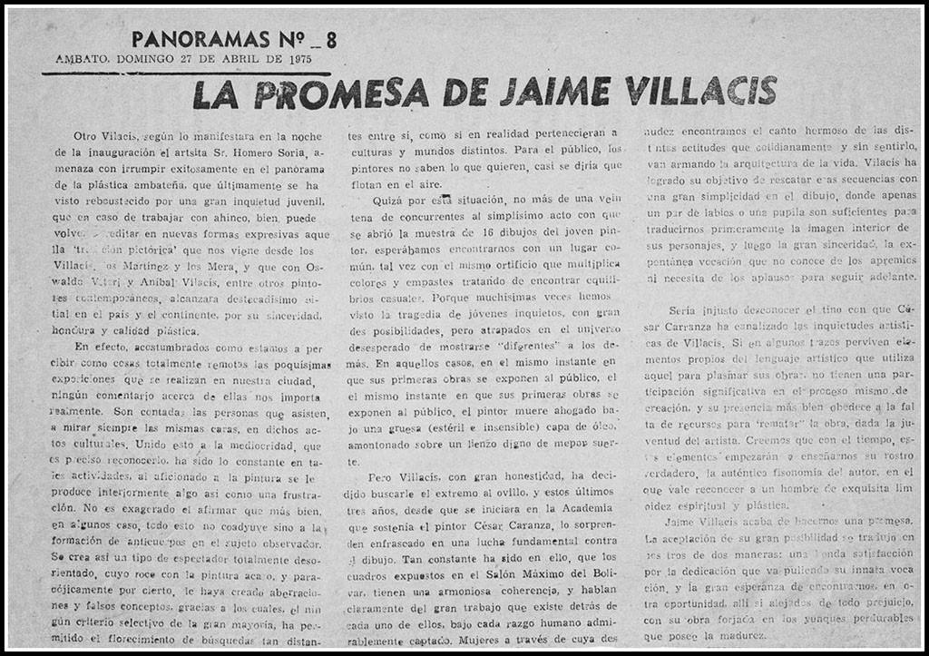 The promise of Jaime F. Villacis